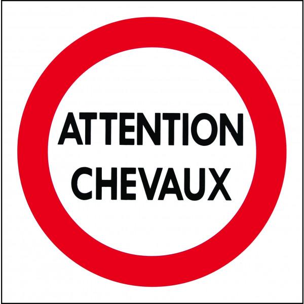 """EQUIPHORSE_PANNEAU """"ATTENTION CHEVAUX""""_1"""