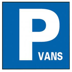"""PANNEAU """"PARKING VANS"""""""
