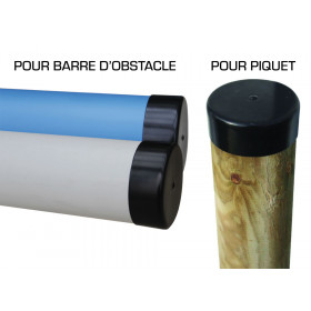 PROTECTION DE PIQUET / EMBOUT DE PROTECTION POUR BARRE D'OBSTACLE POLY